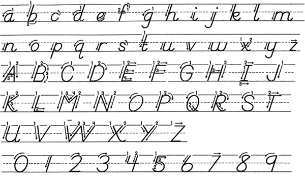 Dnealian Handwriting Grymes Memorial School Technology – D Nealian Cursive Handwriting Worksheets